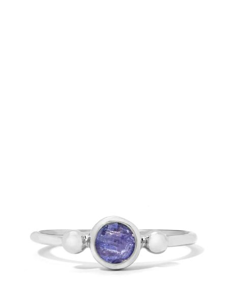 Gemporia Tanzanite sterling silver ring
