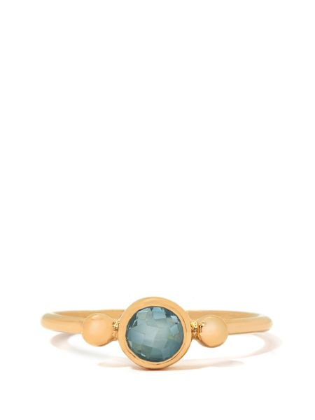 Gemporia Aquamarine gold vermeil ring