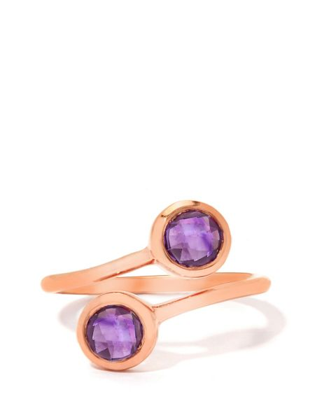 Gemporia Amethyst rose gold vermeil ring