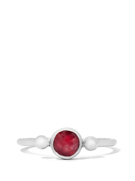 Gemporia Pink tourmaline sterling silver ring