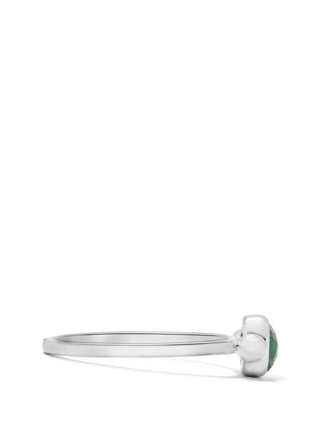 Gemporia Emerald sterling silver ring