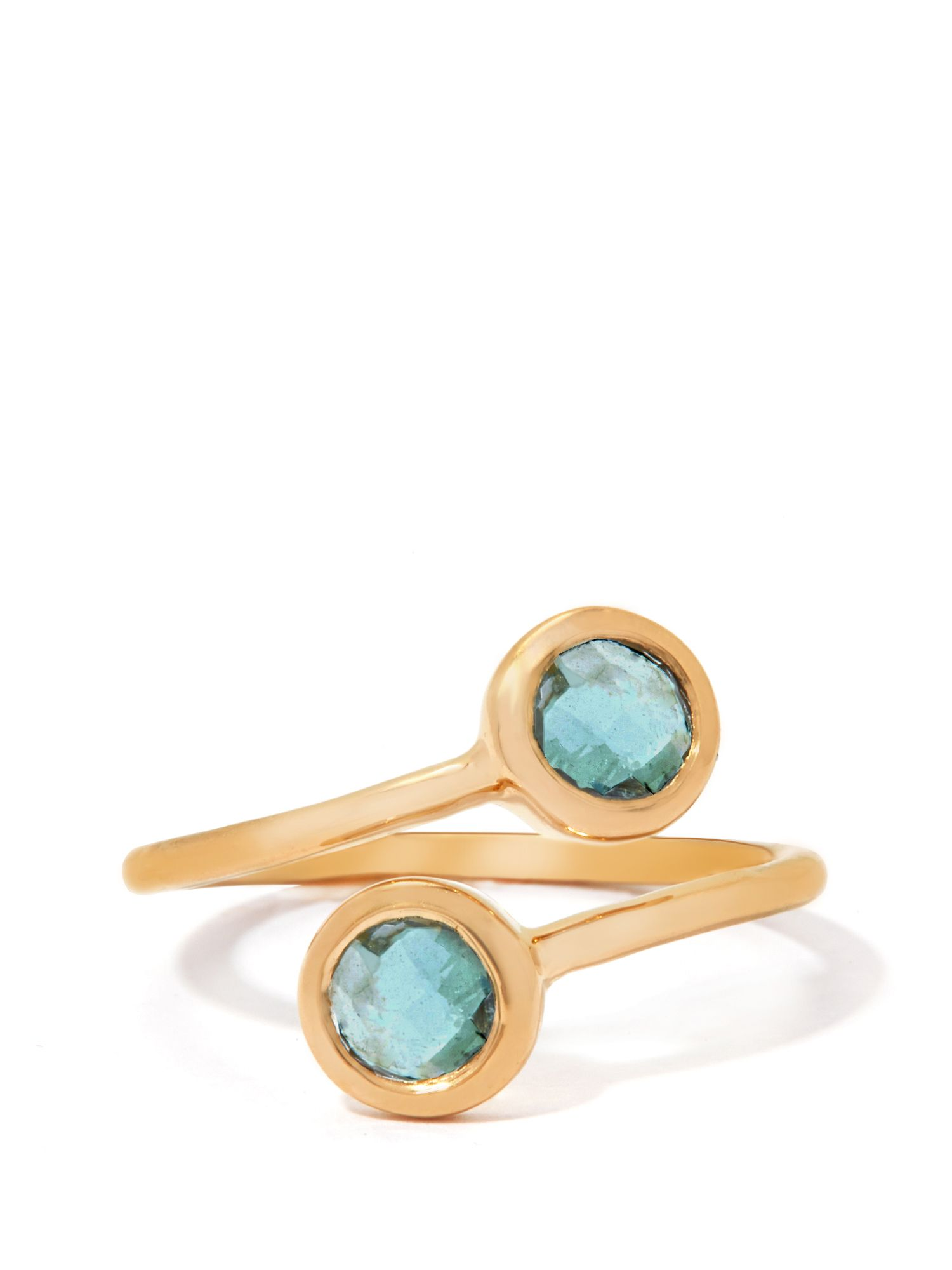 Gemporia Aquamarine gold vermeil ring, Gold