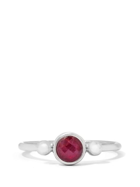 Gemporia Madagascan ruby sterling silver ring