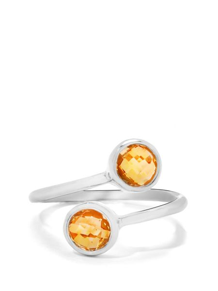 Gemporia Citrine sterling silver ring