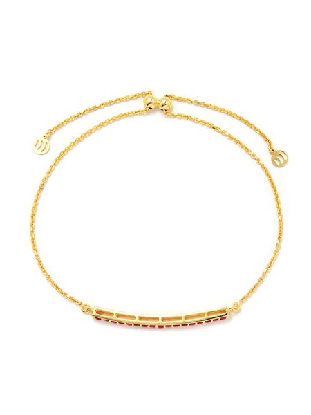 Gemporia Thai ruby gold vermeil bracelet