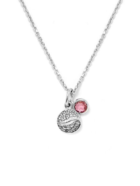 Gemporia Pink tourmaline sterling silver necklace