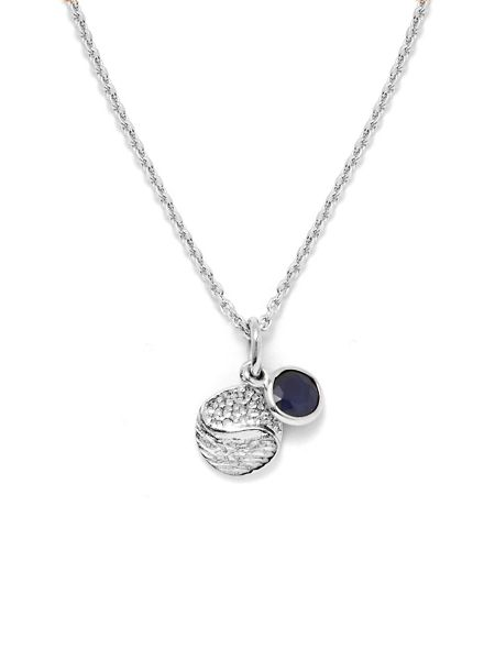 Gemporia Blue sapphire sterling silver necklace