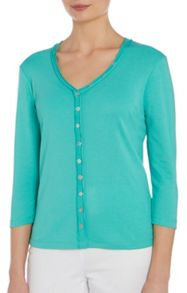 Essential button front top
