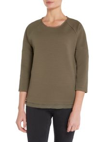 Long Sleeved Textured Top