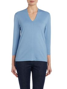 VIZ-A-VIZ Three Quarter Sleeve Jersey Top