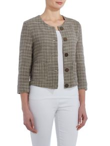 VIZ-A-VIZ Cotton Cropped Jacket