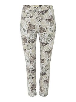 Cropped Print Jeggings