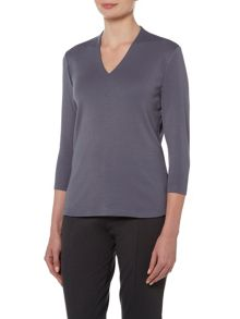 VIZ-A-VIZ High Back Three Quarter Sleeve Top
