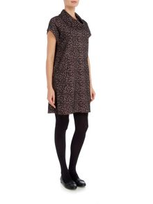 VIZ-A-VIZ Animal Print Jacquard Dress