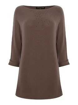 Three Quarter Sleeve Knitted Top