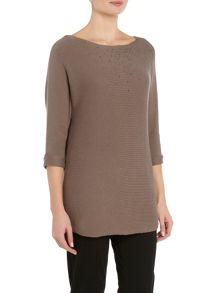 VIZ-A-VIZ Three Quarter Sleeve Knitted Top