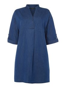 VIZ-A-VIZ Denim Dress