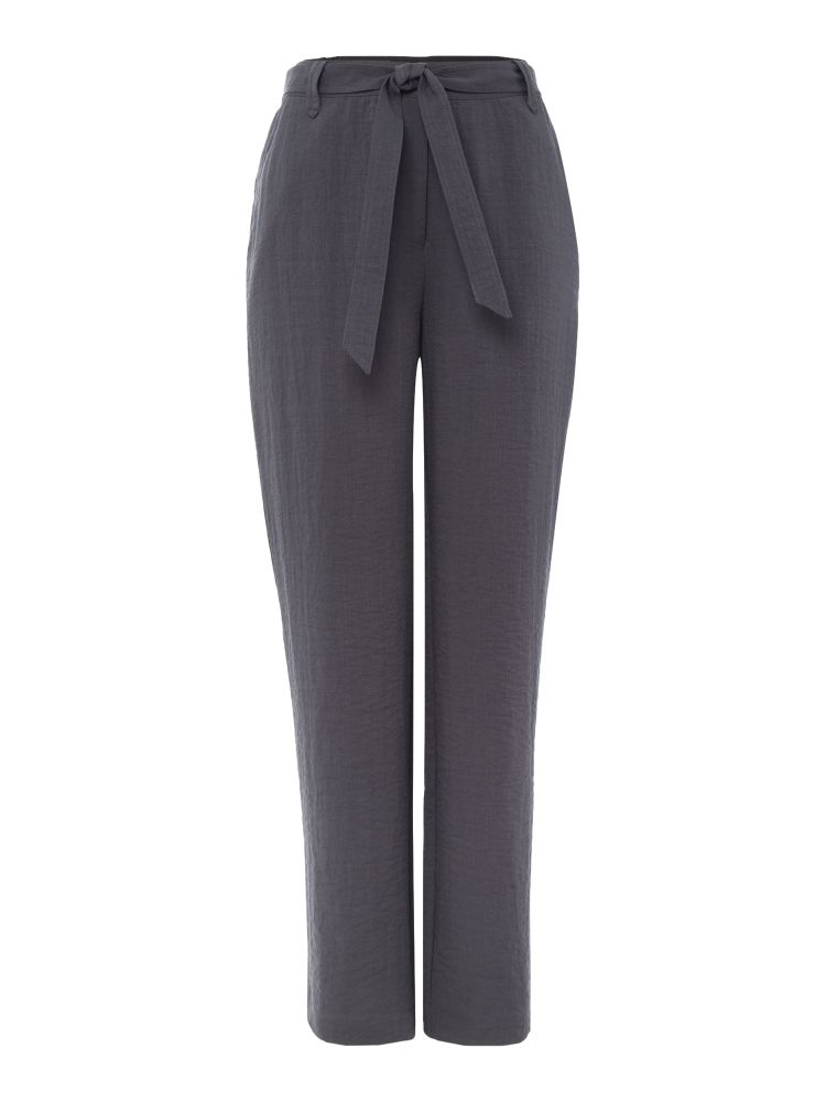 VIZ-A-VIZ Belt Tie Trousers, Grey