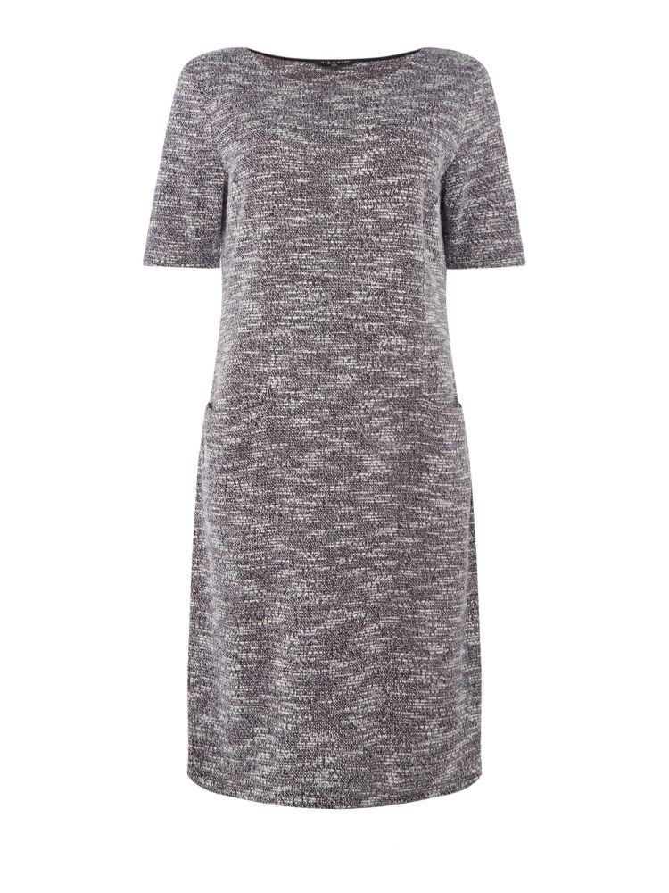 VIZ-A-VIZ Crew Neck Dress, Cream