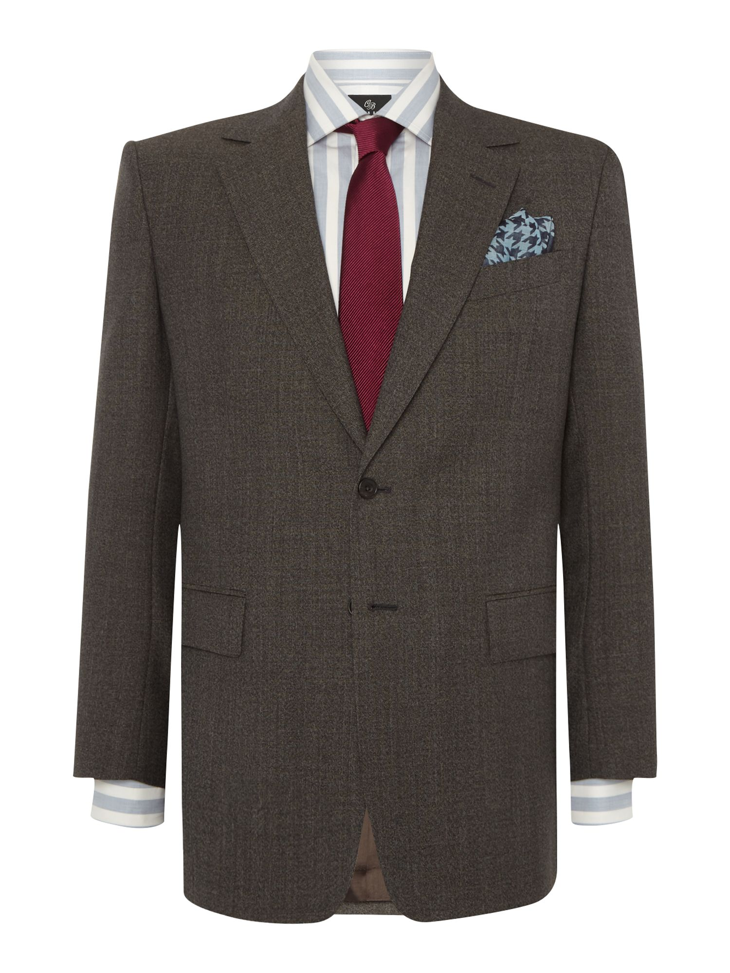 Men's Chester Barrie Burlington Sharkskin Suit, Brown