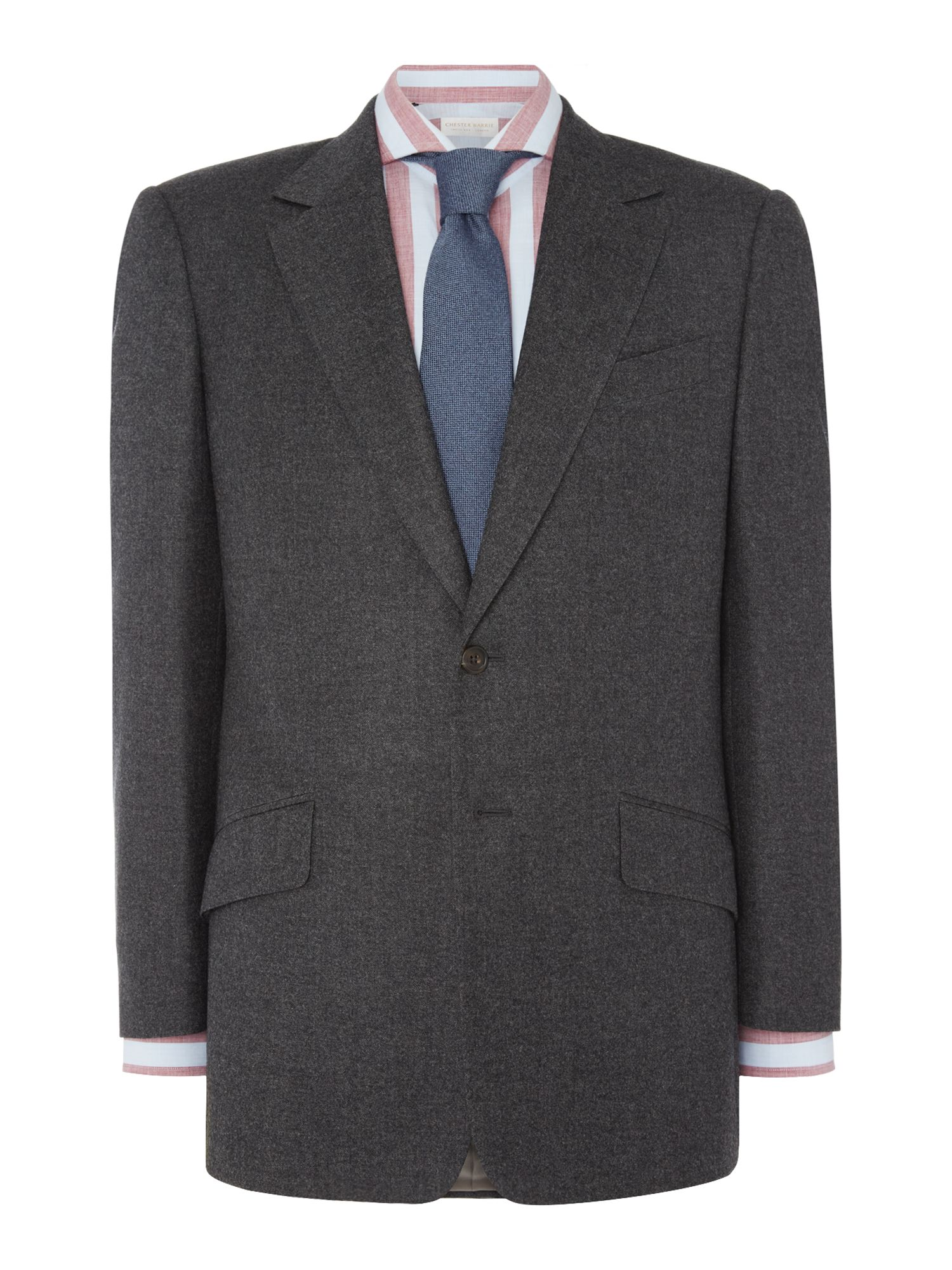 Chester Barrie Men's Chester Barrie Burlington Lux Flannel Suit, Charcoal