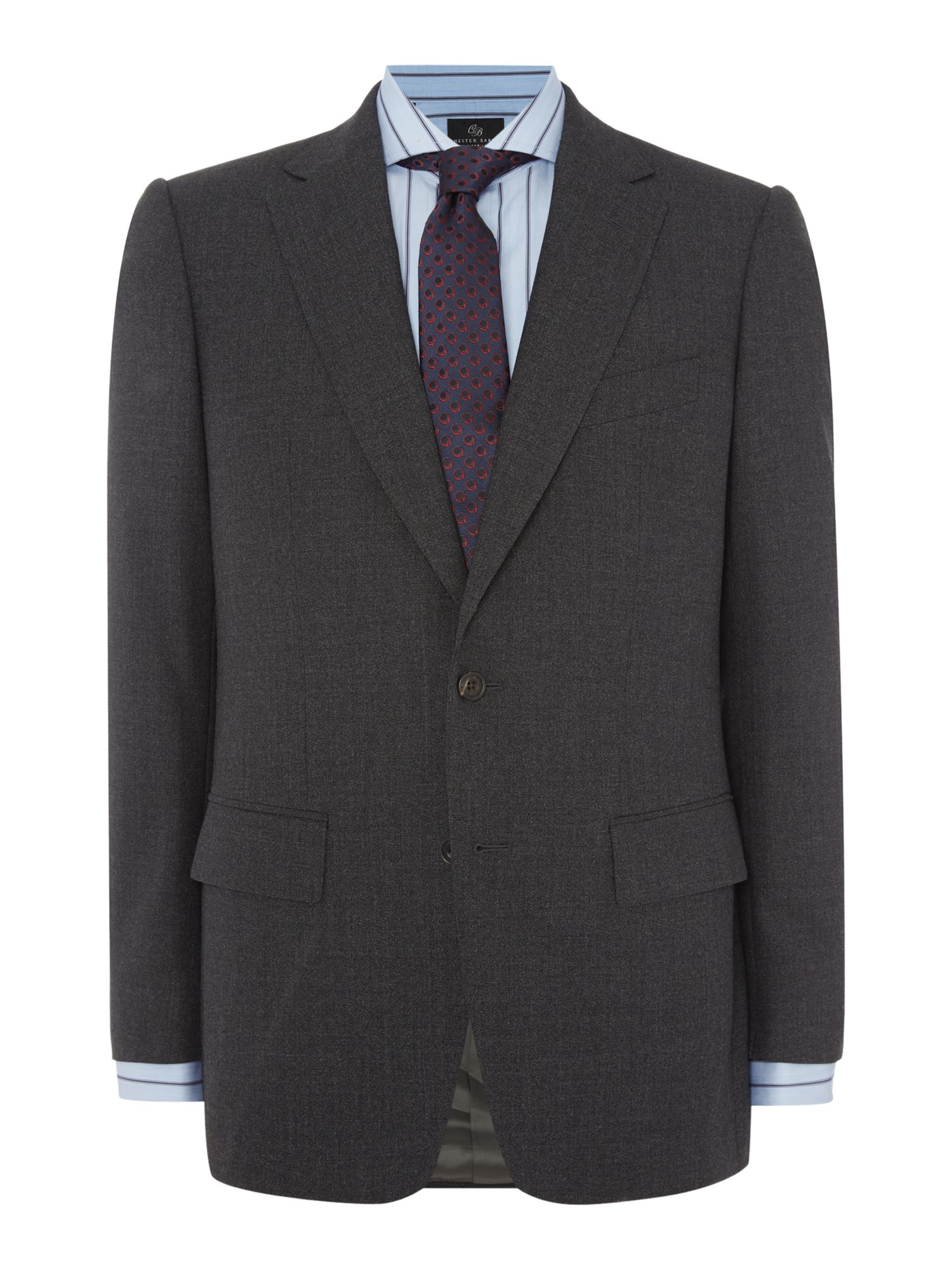 Chester Barrie Men's Chester Barrie Elverton Weave Suit, Charcoal