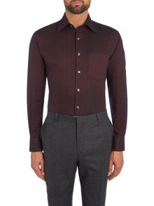 Chester Barrie Peter herringbone flannel shirt