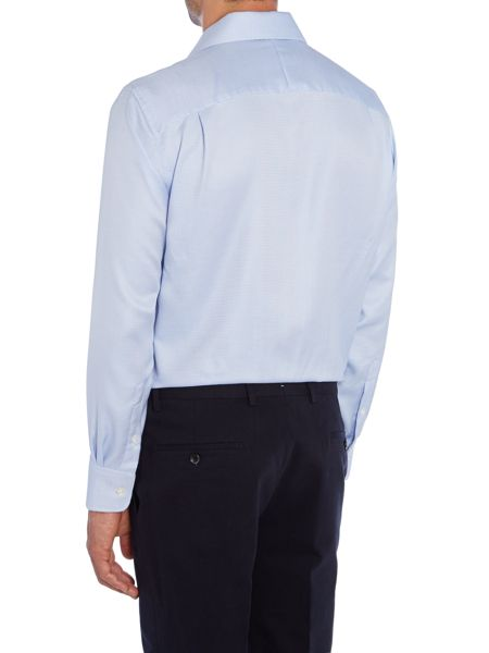 Chester Barrie Check Tailored Fit Long Sleeve Shirt