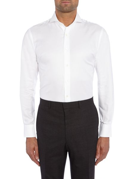 Chester Barrie Textured Tailored Fit Long Sleeve Shirt