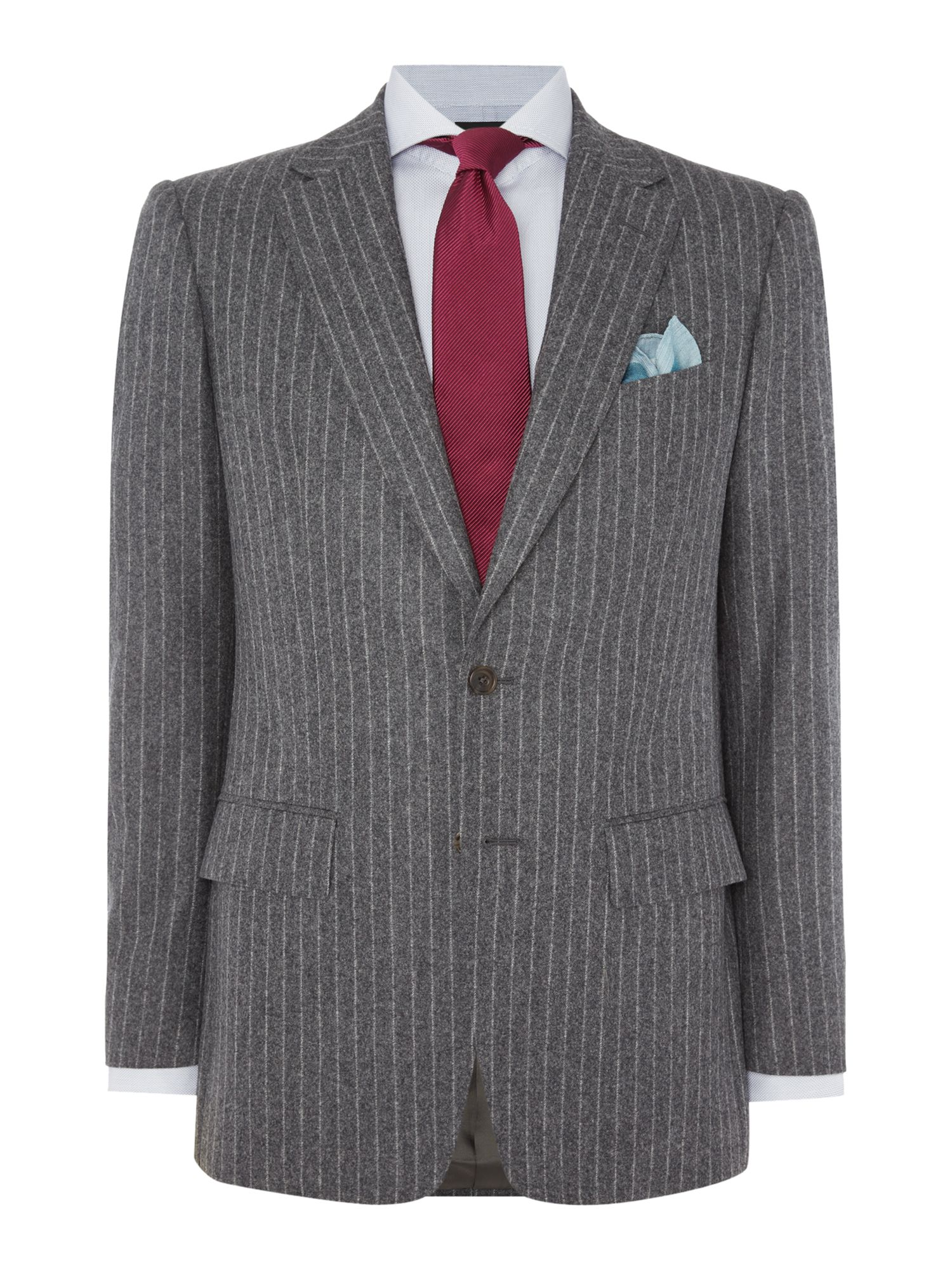 Chester Barrie Men's Chester Barrie Elverton Flannel Chalkstripe Suit, Grey