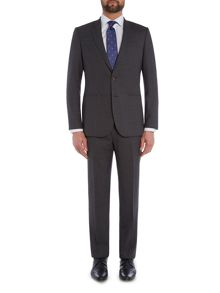 Chester Barrie Slim Fit Suit - Grey Semi Plain