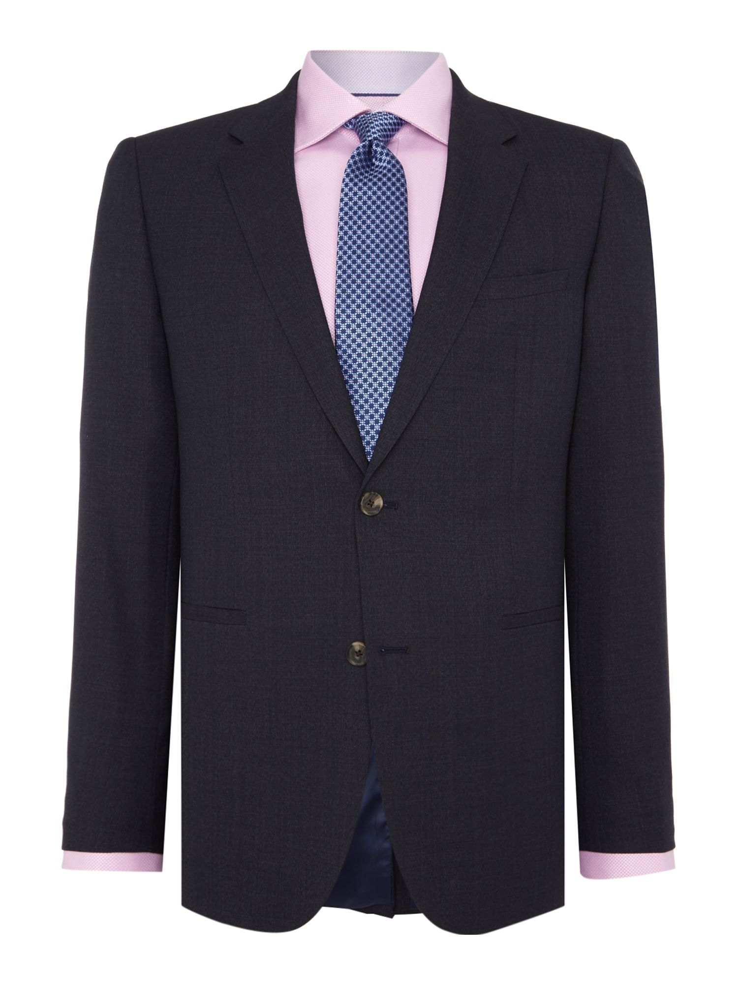 Men's Chester Barrie Slim Fit Suit - Blue Semi Plain, Blue