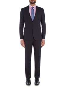 Chester Barrie Slim Fit Suit - Blue Semi Plain