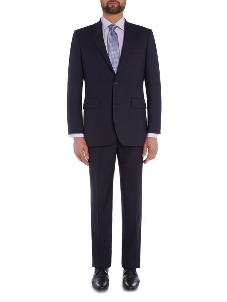 Chester Barrie Tailored Fit Suit Royal Blue Hopsack