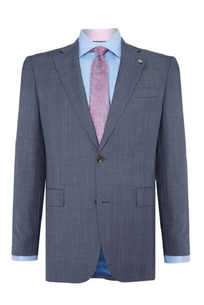 Chester Barrie Tailored Fit Suit Pale Blue Pow Check
