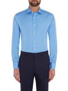 Chester Barrie L/S Contemp James Plain Poplin Shirt D/C