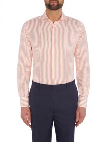 Chester Barrie L/S Contemp Richard Cotton-Linen Stripe