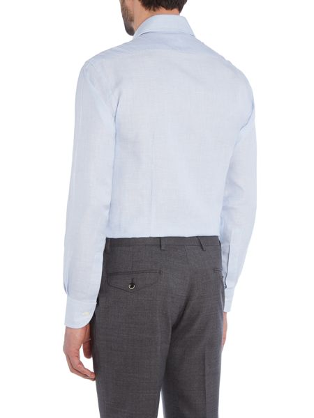 Chester Barrie L/S Contemp Richard Cottonlinen Dogtooth