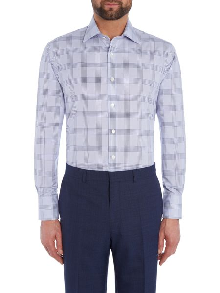 Chester Barrie L/S Contemp James Textured Pow Shirt S/C