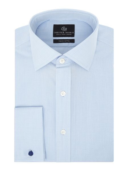 Chester Barrie L/S Contemp James Micro Grid Shirt D/C