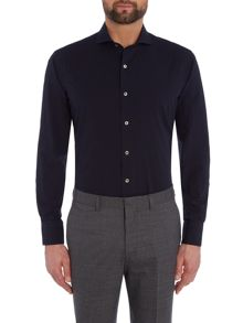 Chester Barrie L/S Contemp Richard Seersucker Shirt S/C