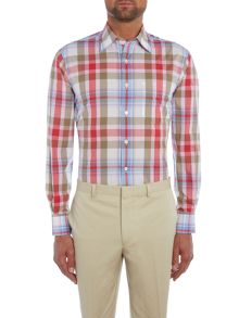 Chester Barrie L/S Contemp Soft Peter Cotton Madras S/C