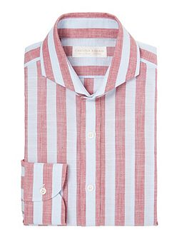 Contemp Henry Bold Chambray Stripe