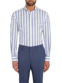 Chester Barrie Contemp Henry Bold Chambray Stripe