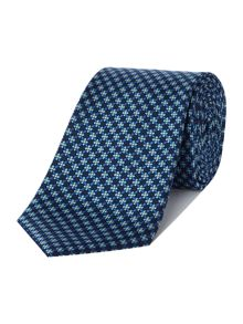 Chester Barrie Silk Tie - Grid Flower