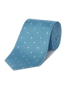 Chester Barrie Silk Tie - Semi Plain White Dot