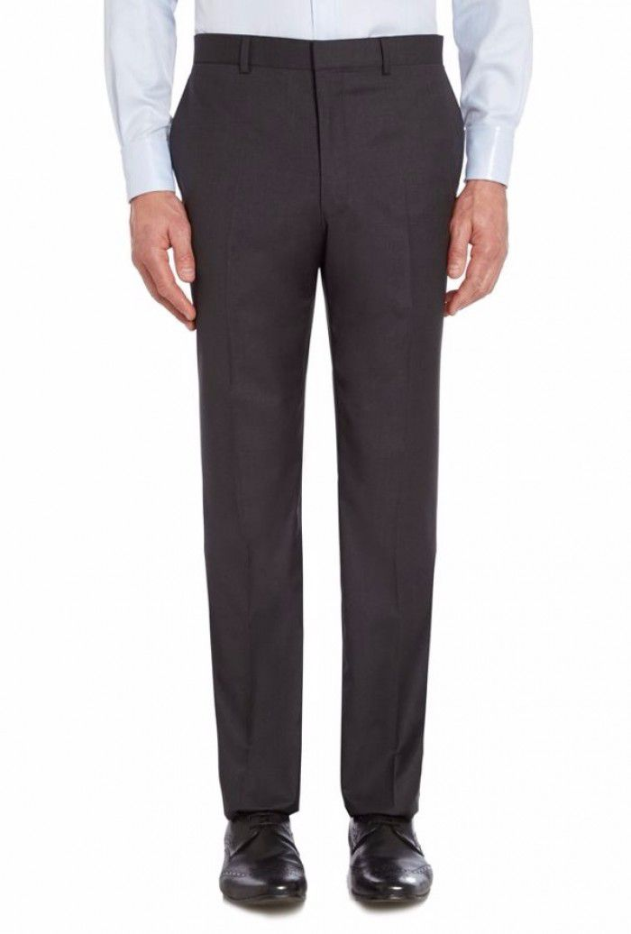 Photo of Mens chester barrie ff tropical plainweave trouser- anthracite