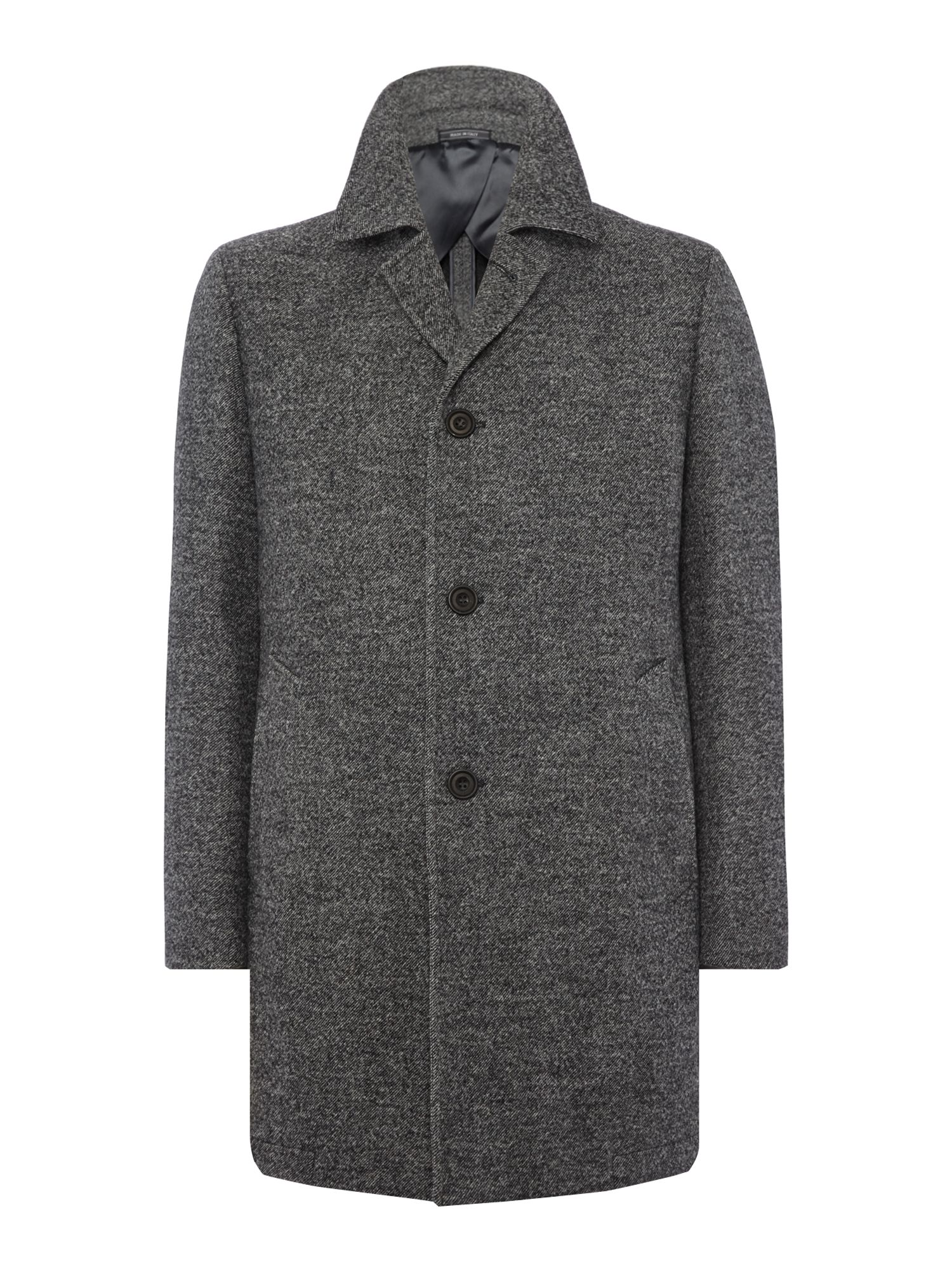 Chester Barrie Men's Chester Barrie Bayswater Check Topcoat, Grey