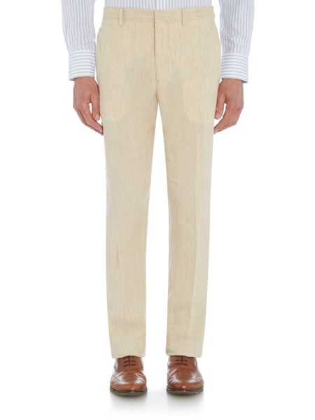 Chester Barrie Elverton Plain Linen Trouser