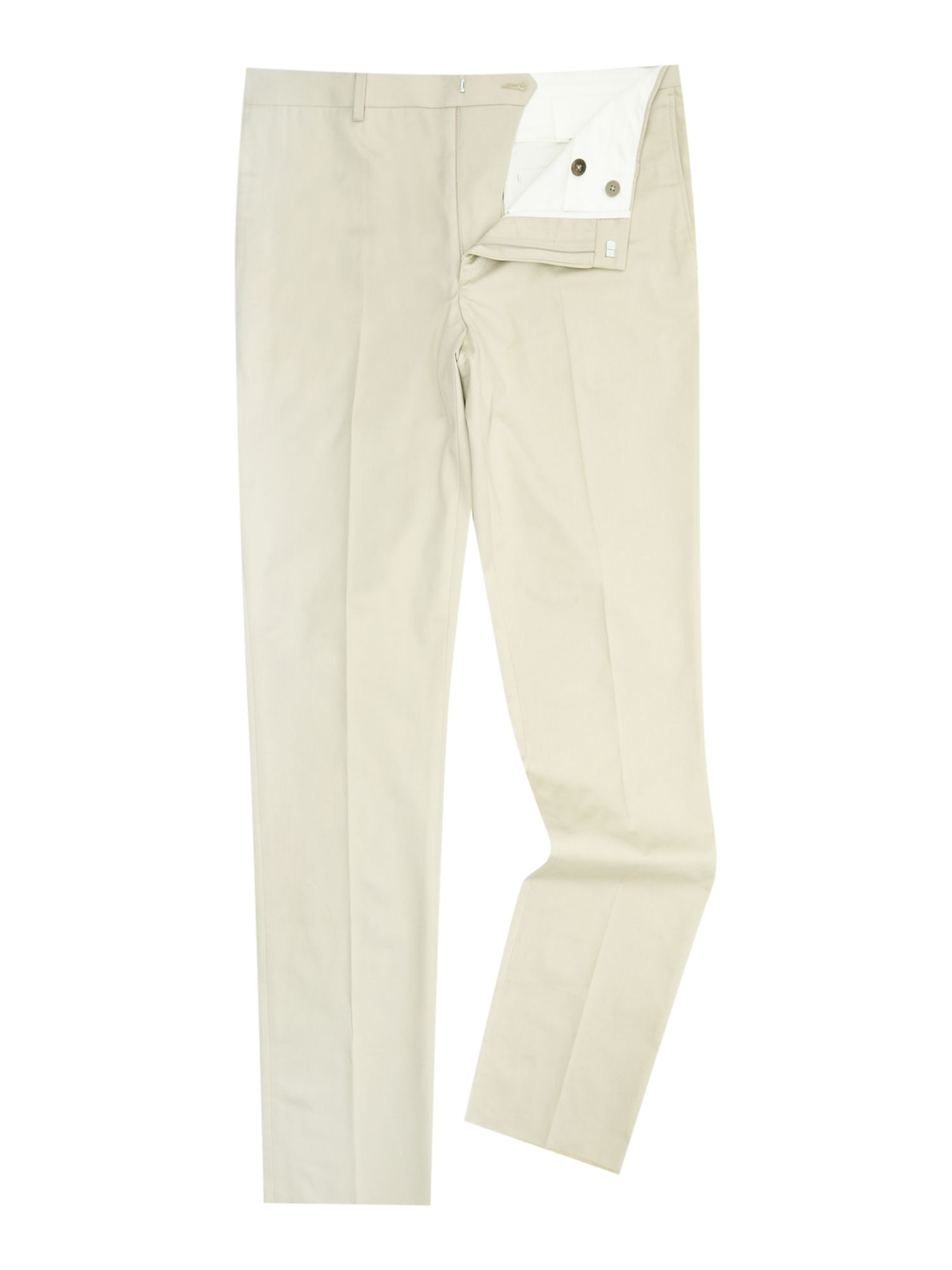 Chester Barrie Men's Chester Barrie Cotton Drill Trouser, Beige
